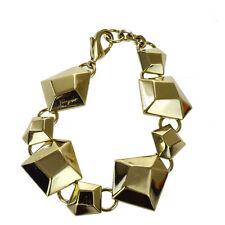 Authentic Salvatore Ferragamo Bangle Bracelet Gold-Tone Italy Accessory 03D501