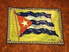 "New listing Vintage 1900's Cuba Flag Tobacco Cigar Premium 7 1/4"" x 10 7/8"" Felt Blanket"