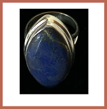 Artisan Created Hand Crafted Blue Lapis Lazuli Sterling Silver Ring from India!