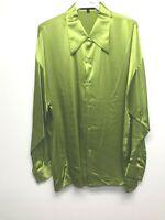NEW Mens Creme De Silk Vintage Rare Fashion Multicolor Silk Soft Shirt Size 3X