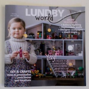 """LUNDBY DOLLHOUSE BRAND-NEW CATALOG """"WORLD"""" 2019: 32 PAGES"""