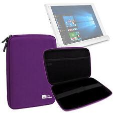 Black Hard EVA Case For Alcatel Plus 10 Tablet With Inner Hold Strap & Zips