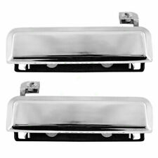 2 Exterior Door Handle 83-92 Ford Ranger 79-93 Mustang Pair Set Front Chrome