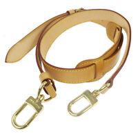 LOUIS VUITTON Logos Shoulder Strap Beige Leather Bag Accessories JT08832a