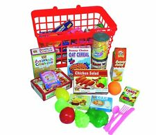 Kids Supermarket Shopping Basket Groceries Childrens Food Grocery Role play toy