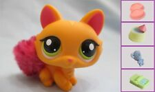 Littlest Pet Shop Orange Crouching Cat #2576+1 FREE Accessory 100% Authentic