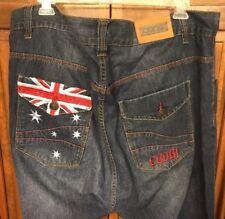 Coogi Denim Jeans Baggy Loose Fashion Urban Hip Hop Patches Men's 44 x 34