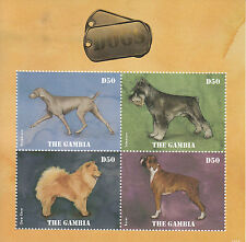 Gambia 2014 MNH Dogs 4v M/S Pets Weimaraner Schnauzer Chow Chow Boxer