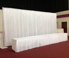 6Mx3M White Wedding Backdrop Curtain with Economy Telescopic Stands for Sale