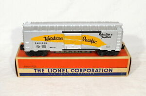 Postwar Lionel 6464-100 Western Pacific Boxcar~Mint Unrun~w/Nice OB