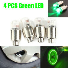 4x Universal Green LED Wheel Tyre Tire Air Valve Stem Cap Light Lamp Bulb