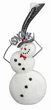 """CHRISTMAS DECORATIONS -  """"LET IT SNOW"""" SNOWMAN WITH TOP HAT"""