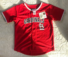MLB St Louis Cardinals Baseball Jersey Shirt Size Kids 6 8 Medium NEW