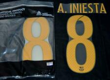 Barcelona A.iniesta 8 2016/17 Football Shirt Name/Number Set Player issue