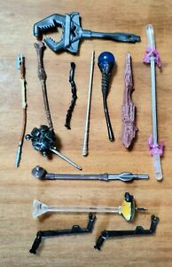 USED STAR WARS ACCESSORIES FOR STAR WARS FIGURES SET OF 13 MINT CONDITION