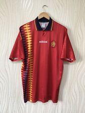 SPAIN 1994 1996 HOME FOOTBALL SHIRT SOCCER JERSEY ADIDAS VINTAGE ORIGINAL