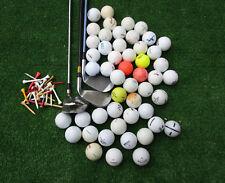 3 Golfschläger + 100 Crossgolfbälle + 50 Tees Linkshänder  Crossgolf , Golfbälle