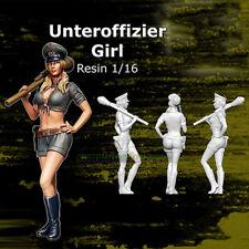 120mm 1/16 Scale Modern Female Officer Garage Kit Unpainted Resin Figure Model