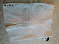 NEW IZ Byer White Dessy Shorts Womens Junior 7 Button Embellished