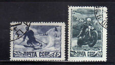 RUSIA/URSS-RUSSIA/USSR 1948 USED SC.1253A/1254A Sky and Motorcyclist