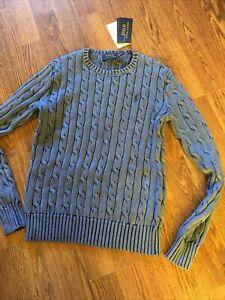BNWT RALPH LAUREN Ladies XS Size 6-8 Cotton Canle Knit Jumper Sweater
