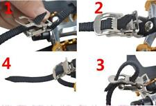 2 x Road Mountain Bike Pedal Replacement Cycle Toe Straps Nylon Security Fit