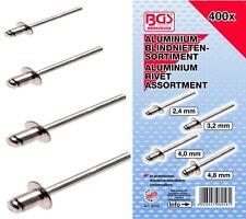 ASSORTIMENTS DE 400 RIVETS POP BGS: Diamètres; 2.4 - 3.2 -  4 - 4.8 - 400 PIECES