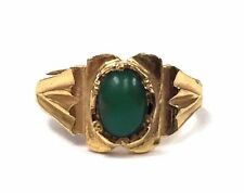 CUSTOM MADE 18K Gold & Turquoise Baby Child's Ring - Ring Size 0 for 11mm Finger