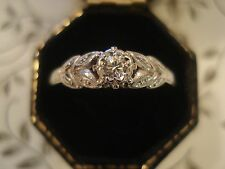 Beautiful Antique Art Deco; Sparkling Diamond Set Platinum & 18CT Gold Ring