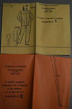 """"""" MODES & TRAVAUX """" PATRON AOUT 1985 + PATRON POUPEE J.MICHEL MARIE FRANCOIS A10"""