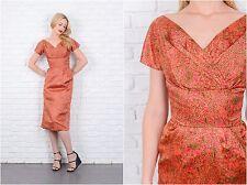 Vintage 50s 60s SUZY PERETTE Cocktail Dress Silk Floral Party XS