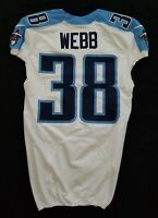 #38 B.W. Webb of Tennessee Titans NFL Locker Room Game Issued Jersey
