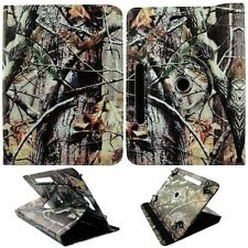 """Brown Oak Camouflage For Samsung Galaxy Tab A 8""""Tablet Case Cover Syn Leather Gl"""