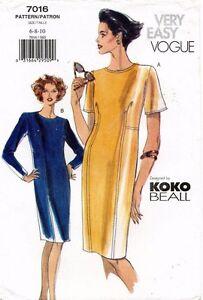 VOGUE Misses' Dress Koko Beall Pattern 7016 Size 6-10 UNCUT