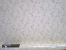 Pink Iris with Multi-Color Flowers on Cream Wallpaper by Sunworthy APC2466