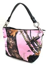 Mossy Oak Pink Camouflage Bucket Purse Handbag, Camo