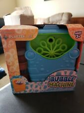 Playtex Blue Bubble Machine Bubble Maker Bath Baby Kids Toy Gift New 7 inch
