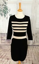 PHASE EIGHT Black striped jumper dress size 10