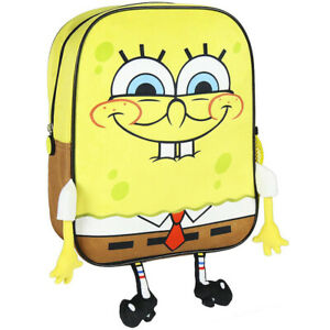 SPONGEBOB SQUAREPANTS backpack 3D Licensed School backpack with legs and hands