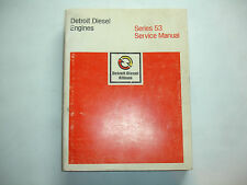 Detroit Diesel Engine Series 53 Factory Service Shop Manual  6SE201  9/80 Marine