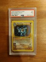 1999 Pokemon Base Set 1st Edition Machamp Holo 8/102 PSA 7 NM