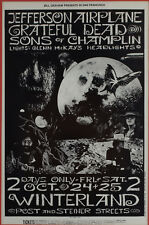 More details for the grateful dead concert window poster winterland 1969 - rock band - reprint