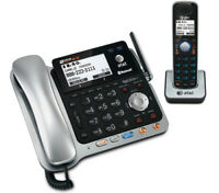 AT&T TL86109 DECT 6.0 Corded Cordless Handset Phone w/ Digital Answering Machine