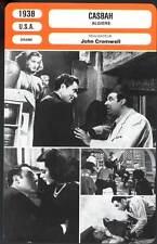 CASBAH - Boyer,Lamarr,Cromwell (Fiche Cinéma) 1938 - Algiers