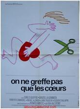 ON NE GREFFE PAS QUE DES COEURS Affiche Cinéma / Movie Poster STENO
