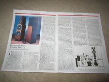 Epi Epicure Model 1 Speaker Review, 2 pgs, Full Test
