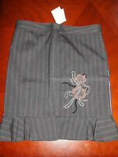 Guess Jeans Marciano Iron Gray Pinstripe Pencil Skirt 31 NWT Retail $69.00