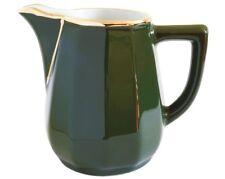 Apilco Jug - Medium Creamer Green and Gold French Bistro Ware