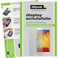 Samsung Galaxy Note 3 Schutzfolie matt Displayschutzfolie Folie dipos