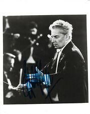 Herbert von Karajan Conductor signed 8x10 inch photo autograph